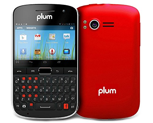"Plum Velocity Ii Unlocked Dual Sim Android Smartphone (Red) - 2.6"" Display Gsm Quadband 4G/Hspa+"