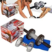 Powerstretch AB Wheel Roller Exercise Fitness Slim Body Roller By Gadgetbucket
