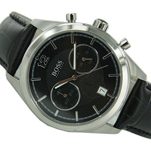 Hugo Boss 1512749 - Orologio da polso uomo, pelle, colore: nero