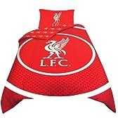 海外サッカー 公式 オフィシャル / シングルサイズ リバーシブル 掛布団カバー・枕カバー セット 全8種 (Liverpool FC / リバプール) [並行輸入品]