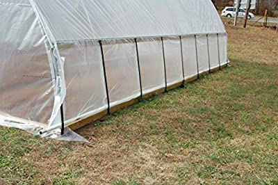 Greenhouse Clear Polyethylene Covering  4 Year, 6 Mil, 12ft. X 55ft.