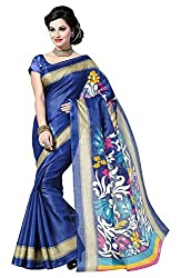 Balkrishna Fabrics Women's Bhagalpuri Silk Sarees (Blue)