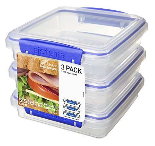 sistema-klip-it-collection-sandwich-box-food-storage-container-152-ounce-19-cup-each-set-of-3