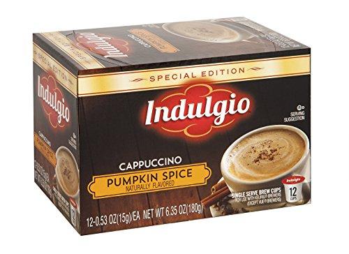 Indulgio 72 Count K-Cups (Pumpkin Spice Cappuccino)