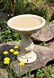 Yorkshire Rose Patterned Stone Birdbath Water Feature