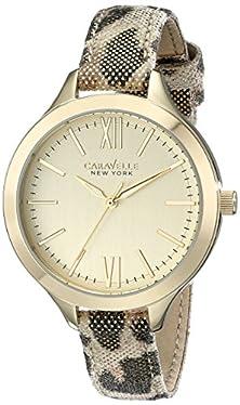 buy Caravelle New York Women'S 44L161 Analog Display Analog Quartz Gold Watch
