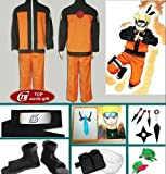 Japanese Anime Naruto Cosplay Uzumaki Naruto Cosplay Costume Naruto Clothes Full Set