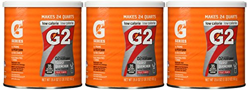 Gatorade Perform G2 02 Perform Thirst Quencher Instant Powder Fruit Punch Drink 19.4 Oz. (Pack of 3) (Gatorade G2 Powder Fruit Punch compare prices)