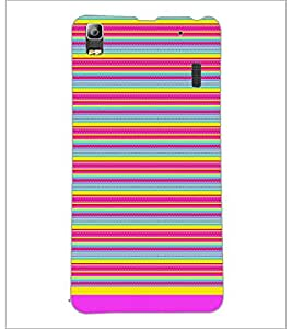 PrintDhaba Tribal Pattern D-1727 Back Case Cover for LENOVO A7000 TURBO (Multi-Coloured)