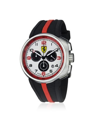 FERRARI Men's FE10ACCCGWT Black/White Stainless Steel Watch