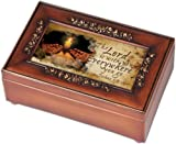 Cottage Garden The Lord Is Woodgrain Petite Rose Music Box / Jewelry Box Plays Amazing Grace