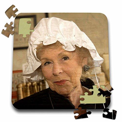 Danita Delimont - Virginia - Woman in hair bonnet, Williamsburg, Virginia - US47 JME0103 - John and Lisa Merrill - 10x10 Inch Puzzle (Colonial Costume Williamsburg)