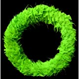 Exotic Creations Neony Leaves - Dried flower wreath(Green,L=40 cm X W=40 cm X D= 40 cm)