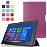 MoKo Ultra Slim Lightweight Smart-shell Stand Case for Lenovo Thinkpad 2 10.1 inch Windows 8 tablet, PURPLE (with Auto Wake/Sleep Function)