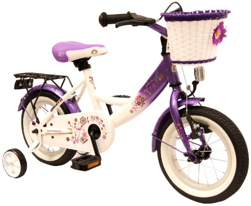 bike*star 30.5cm (12 Inch) Kids Children Girls Bike Bicycle Classic - Colour Lilac & White