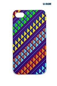 Lorem Back Cover For Apple iPhone 4/4S -Multicolor-L13978