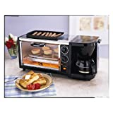 3-in-1 Breakfast Set: Coffee Maker, Oven Toaster & Grill Plate, Stainless Steel-by Kalorik