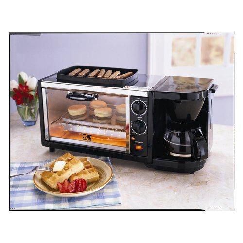 Cream Toaster Ovens ~ Cream toaster in breakfast set coffee maker oven