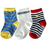 C2BB 3 pairs of boys anti slip baby socks children from 1 to 3 years old item 30