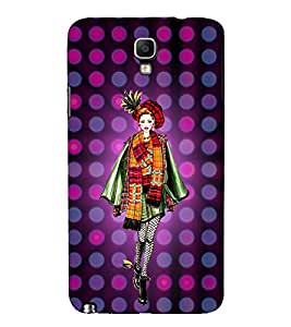 College Tinage Girl 3D Hard Polycarbonate Designer Back Case Cover for Samsung Galaxy Note 3 Neo N7505