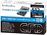 CFD販売 SSD 512GB 2.5inch TOSHIBA製 内蔵型 2.5→3.5inch変換マウンタ付 SATA6Gbps CSSD-S6T512NHG6Z
