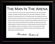 Theodore Teddy Roosevelt the Man in the Arena Quote 8×10 Framed Picture with Black Border