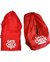 J.L. Childress Gate Check Bags for Standard/Double Strollers and Car Seats (Red)