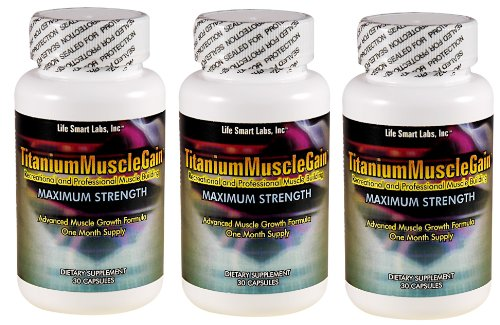 Titanium Muscle Gain TM 3 Months Supply, used for Professional and Recreational Muscle Building, body building