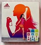 Adidas 3 Piece Women's Body Fragrance Natural Spray ~ Beauty Gift Set! Fabulous Invigorating Scents ~ Fizzy Energy ~ Pure Lightness ~ Fruity Rhythm