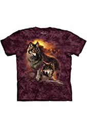 The Mountain Wolf Sunset T-Shirt - Youth and Mens
