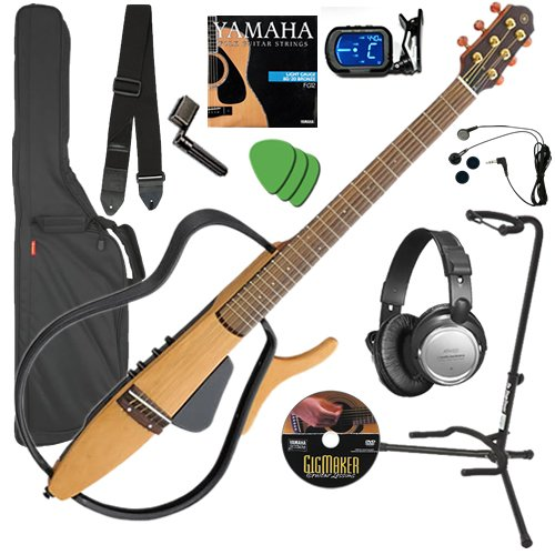 Yamaha SLG110S Silent Guitar COMPLETE BUNDLE w/ Gig Bag & Headphones