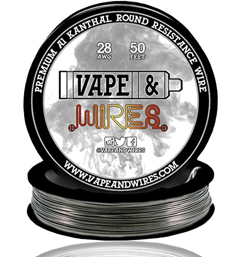 Desertcart saudi vape and wires buy vape and wires products vape and wires round kanthal wire resistance 28 gauge awg a1 roll 032mm black 50ft greentooth Choice Image