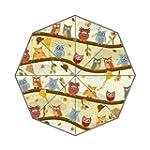 Autumn Owls Auto Foldable Umbrella