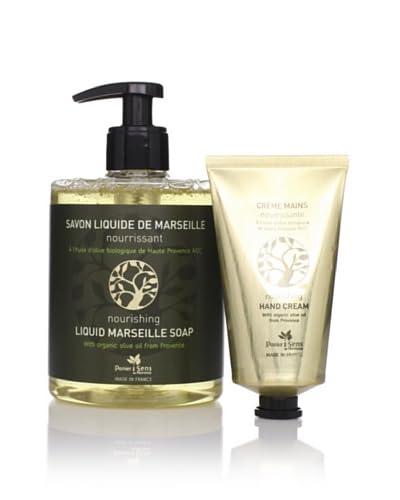 Panier des Sens Organic Olive Oil Liquid Soap & Hand Cream, Set of 2 As You See