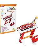 ZY 37 juguetes teclado órgano clave multifunción musical electrónico con el micrófono para niños