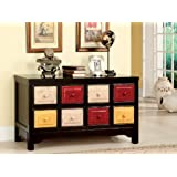 Multi Color 8 drawers Storage Chest , Dining Room Sideboard Buffet