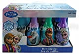 Disney Frozen Elsa Anna Kristoff Olaf and Sven Bowling Set in Display Box 6 Pins and Bowling Ball