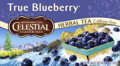 Celestial Seasonings Herb Tea, True Blueberry, 20-Count Tea Bags (Pack of 6)