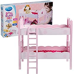 Doll Bunk Bed By Svan Fits American Girl Dolls Includes 2 Each Beds, Pillows, Blankets And A Ladder)