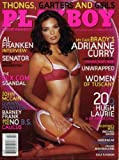 Playboy February 2006 Adrianne Curry/My Fair Brady on Cover (nude inside), Al Franken Interview, Hugh Laurie/House 20 Questions, The Sex.com Scandal, Michelle Richmond Fiction