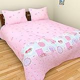BRiDA Polycotton Double Bedsheet - 225 Cm X 225 Cm, Baby Pink