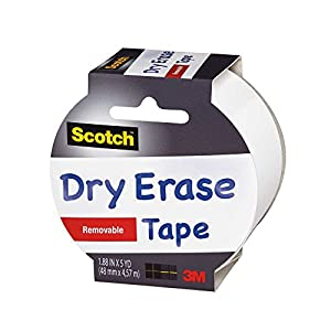 Amazon.com: Scotch Dry Erase Tape, White, 1.88-Inch x 5