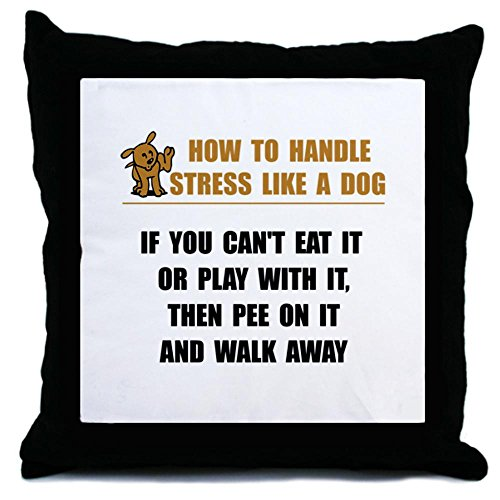 Cafepress Stress Like Dog Throw Pillow - Standard Multi-Color back-498882