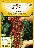 Burpee 64857 Tomato, Cherry Super Sweet 100 Hybrid Seed Packet