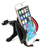 Car Mount, Liger® Universal Car Air Vent Mount Holder / Cradle - Compatible with All Smartphones, including IPhone 4, 4S, 5, 5S, 5C, 6, 6 Plus - Samsung Galaxy S3, S4, S5 - Galaxy Note 2, 3 - LG, G2 - Motorola Moto X Droid HTC One, Nexus 5 (Car Vent Mount