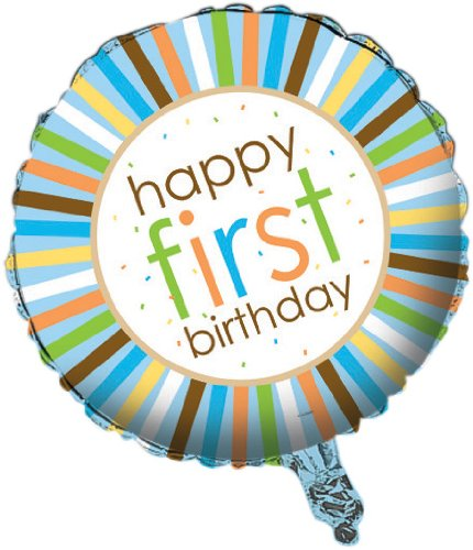 Creative Converting Sweet at One Boys 1st Birthday Two Sided Mylar Foil Round Balloon
