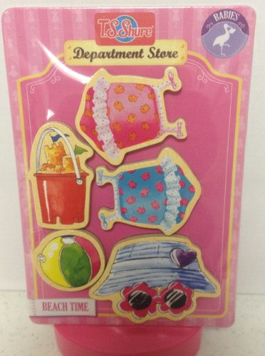 T.S. Shure Magnetic Wooden Dress-Up Clothes- Beach Time Baby Doll Clothes - 1
