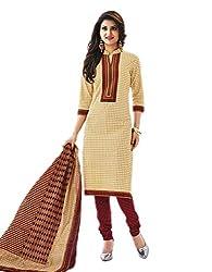 Aarvi Women's Cotton Unstiched Dress Material Multicolor -CV00081