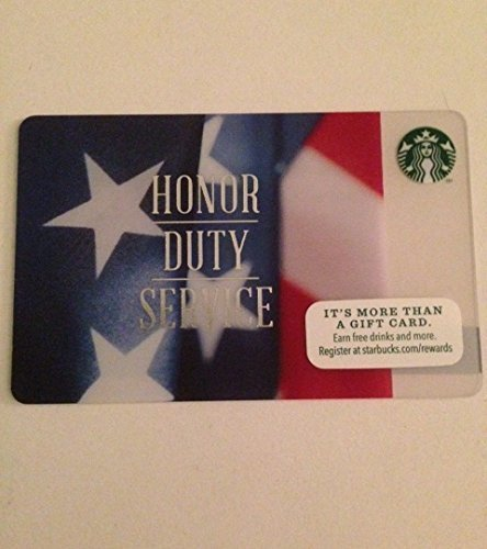 Starbucks Veterans Day Collectible Gift Card No Value