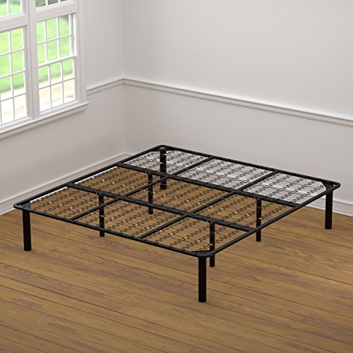 king size bed frame and box spring walnut brown finish scandinavian solid bamboo